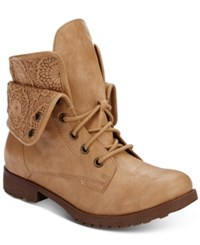 Ziginy Rock And Candy Spraypaint Combat Booties Women's Shoes Natural Neat Lace