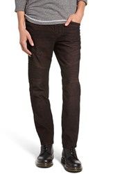True Religion Men's Brand Jeans Rocco Slim Fit Corduroy Moto Pants