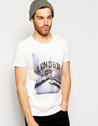 United Colors Of Benetton T Shirt With London Print Offwhite