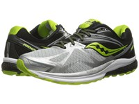 Saucony Ride 9 Silver Black Lime Men's Running Shoes