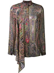 Etro Paisley Print Silk Blend Blouse Multicolour
