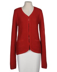 Fine Collection Knitwear Cardigans Women Maroon