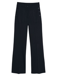 Mango Button Flared Trousers Black