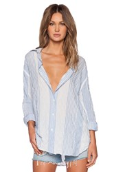 Ever Lauren Oversized Shirt Blue