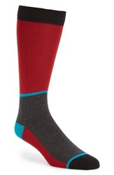 Men's Ted Baker London Colorblock Socks Red Dark Red