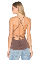 Riller And Fount X Revolve Lulu Halter Criss Cross Tank Brown