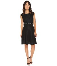 Rsvp Sharon Fit And Flare Dress Black Women's Dress