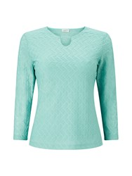 Eastex Keyhole Detail Textured Top Green