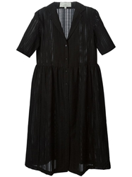 Studio Nicholson 'Machida' Jacquard Dress Black