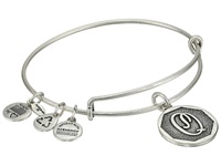 Alex And Ani Initial Q Charm Bangle Rafaelian Silver Finish Bracelet