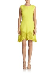Josie Natori Embroidered Detail Dress Green
