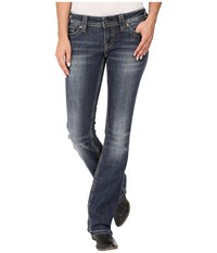 Stetson 818 Contemporary Bootcut With Reverse S Stitch Back Pocket Blue Women's Jeans