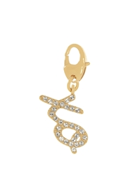 Kate Spade Pave Xo Charm Clear Gold