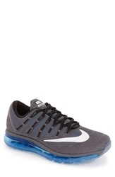Nike Men's 'Air Max 2016' Running Shoe Dark Grey White Blue Black