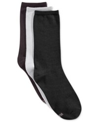 Hanes Women's Comfort Soft Crew Socks 3 Pack Black