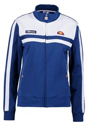 Ellesse Fabiola Tracksuit Top Blue Depths