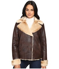 Vince Camuto Shearling L1591 Brown Women's Coat
