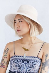 Urban Outfitters Stitched Rope Panama Hat Tan