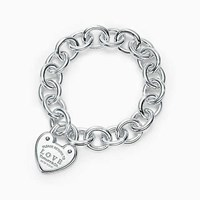 Tiffany And Co. Return To Tiffanytm Love Lock Bracelet In Sterling Silver Large.