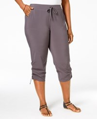 Styleandco. Style And Co. Plus Size Ruched Active Capri Pants Only At Macy's New Graph