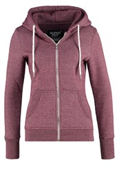 Superdry Luxe Tracksuit Top Canyon Berry Jaspe