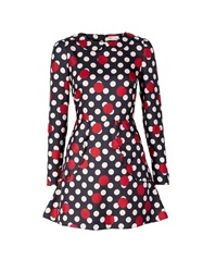 Red Valentino Redvalentino Polka Dot Dress Black Black