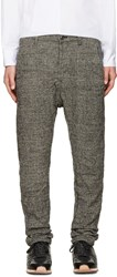 Attachment Black Wrinkled Houndstooth Trousers