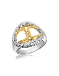 Just Cavalli Icon Stainless Steel Signature Ring Silver