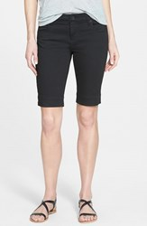 Women's Kut From The Kloth 'Natalie' Twill Bermuda Shorts Black