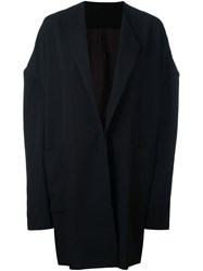 Yohji Yamamoto Dropped Shoulder Trench Coat Black
