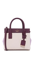 Kate Spade Mini Candace Cross Body Bag Crisp Linen Lilac Mahogany