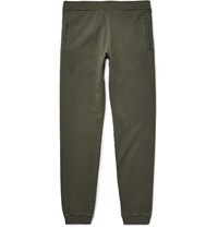 Maison Martin Margiela Slim Fit Loopback Cotton Jersey Sweatpants Green