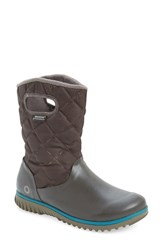 Women's Bogs 'Juno' Waterproof Quilted Snow Boot Chocolate