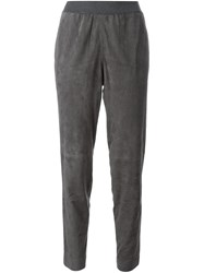 Fabiana Filippi Suede Trousers Grey