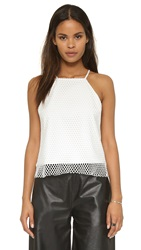 Mason By Michelle Mason Halter Top Ivory Ivory