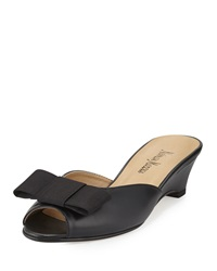 Neiman Marcus Barnet Leather Tuxedo Mule Black
