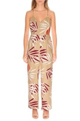 Finders Keepers 'Ritual Union' Jumpsuit Beige