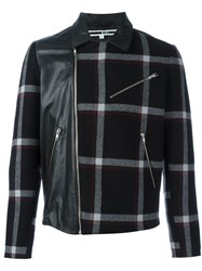 Mcq By Alexander Mcqueen Panelled Plaid Jacket Black