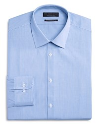 Bloomingdale's The Men's Store At Fine Stripe Regular Fit Dress Shirt 100 Exclusive Blue