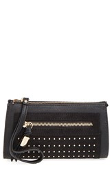 Big Buddha 'Jpilar' Studded Faux Leather Wristlet
