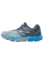 New Balance M890 Cushioned Running Shoes Grey Blue