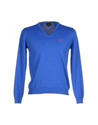 Henry Cotton's Knitwear Jumpers Men Bright Blue