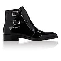 Gianvito Rossi Women's Double Buckle Strap Ankle Boots Black