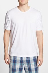 Tommy Bahama 'Palm Cove Lounger' Pima Cotton And Modal V Neck T Shirt White
