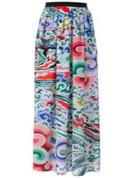 Mary Katrantzou Full Length Silk Skirt Multicolour