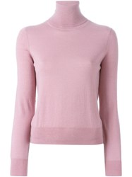 P.A.R.O.S.H. Turtleneck Sweater Pink And Purple