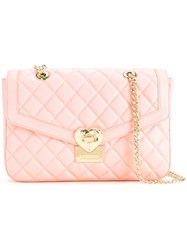 Love Moschino Quilted Shoulder Bag Pink Purple