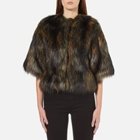 Paul Smith Ps By Women's Faux Fur Shrug Coat Multi
