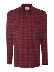 T.M.Lewin Check Slim Fit Long Sleeve Classic Collar Shirt