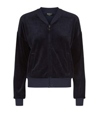 Juicy Couture Glamorous Westwood Velour Bomber Jacket Female Blue